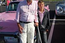 Scénárista Adam Novák se synem Dominikem.