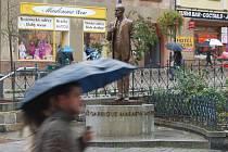 Socha Tomáše Garrigua Masaryka v Karlových Varech.