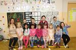 Žáci 1. třídy ze Základní školy v Merklíně s paní učitelkou Evou Uhlíkovou.
