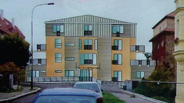 Takto si představuje ruský investor pětipatrový dům, který má vyrůst na místě bývalé prodejny potravin v ulici 5. května v Drahovicích.
