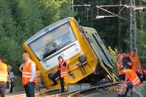 Železniční nehoda v Lázních Kynžvartu