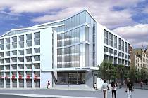 Nová podoba.Takto si architekti firmy Eltodo představují novou podobu Národního domu. S dostavbou začít ale nemohou.