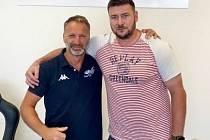 Šéf Stadionu Cheb David Speierl a Václav Skuhravý