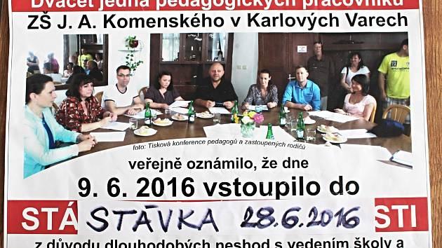 NA NESPOKOJENOST s děním v karlovarské škole Komenského upozorňovali někteří učitelé už v loňském roce.