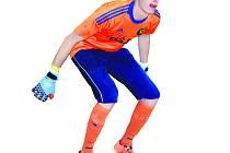 Dominik Vaněček, brankář Slavie B si v úvodním kole Evropáku připsal stejně jako jeho tým na své konto jeden bod za remízu 5:5 s Hroznětínem.
