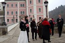 Svatba 11. 11. 2011 na bečovském zámku. Své ANO si zde řekli Pavla Haláková a Rudolf Wiszczor