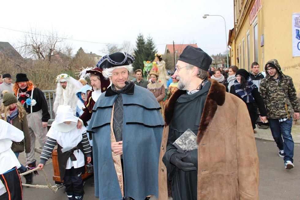 Masopustní veselí v Hroznětíně.