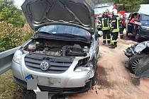 Místo nehody mezi Merklínem a Pstružím.