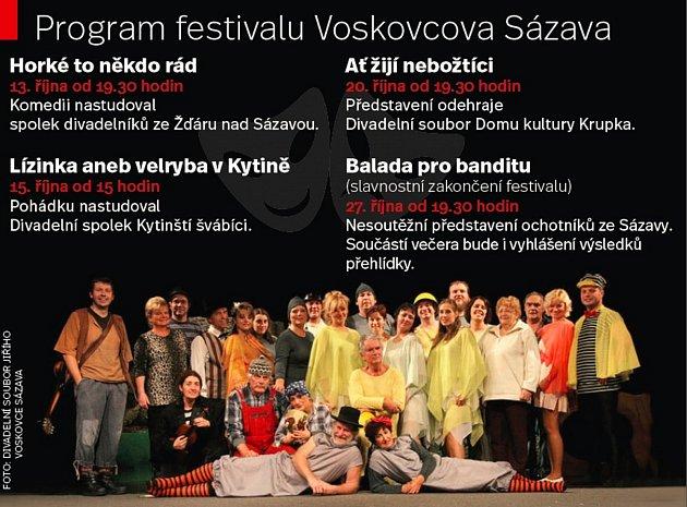 Program festivalu Voskovcova Sázava