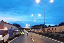 V noci ze soboty na neděli bude D1 uzavřena mezi 21. a 41. kilometrem: kompletně, pro veškerou dopravu a v obou směrech.