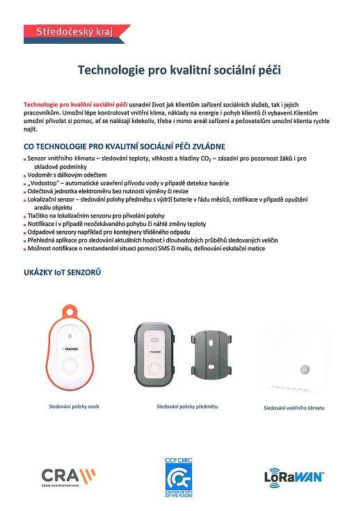 Bezdrátové připojení různých senzorů, čidel, měřičů a dalších zařízení