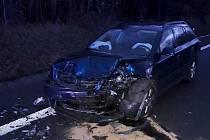 Dopravní nehoda mezi odbočkami na obce Bystřice a Petrovice, 6. listopadu 2019
