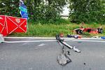 Tragická dopravní nehoda na křižovatce krajských silnic 111 a 112 u Struhařova.