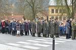 Z pietního aktu ke Dni válečných veteránů v Choceradech.