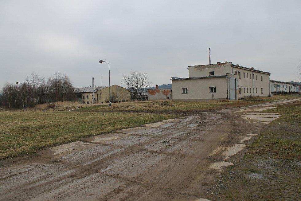Prostor Táborských kasáren v Benešově.