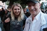 Vystoupení kapely Czech Floyd na Masarykově náměstí v Benešově 21. srpna 2019.