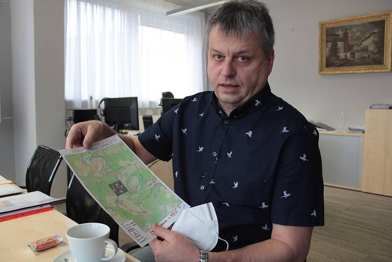 Starosta města Sázavy Ivan Koldcsiter.