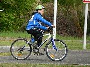 Cyklistická soutěž žáků na dopravním hřišti. Ilustrační foto.