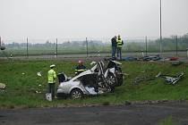 Středeční ranní nehoda na Staré Benešovské silnici u Vestce.