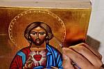 Z kurzu ikonopisectví v klášteře v Sázavě.
