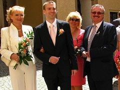Svatba benešovských snoubenců Ivy Koubové a Patrika Lajperta.