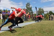 Na daměnickém travnatém hřišti se v sobotu 1. července konalo třetí kolo Benešovské hasičské ligy v požárním sportu.