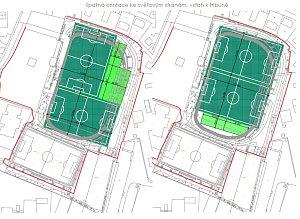 Vizualizace proměn fotbalového stadionu v Benešově