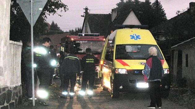 Požár rodinného domu v Poříčí nad Sázavou