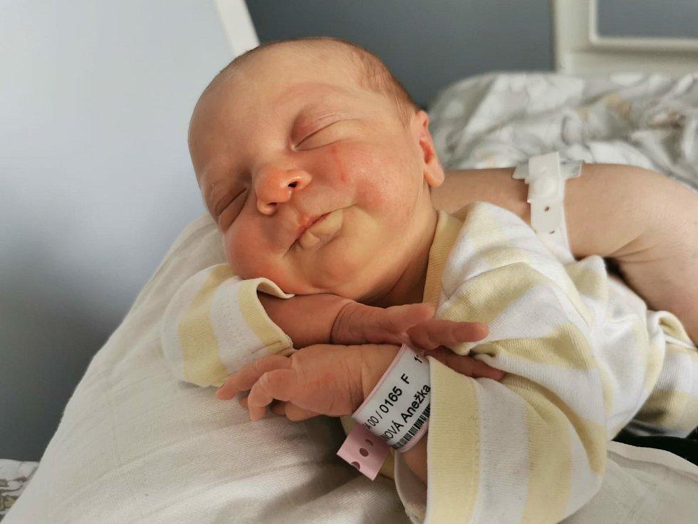 Anežka Brunová se narodila 8. dubna 2021 v 9. 47 hodin v čáslavské porodnici. Vážila 2800 gramů a měřila 49 centimetrů. Domů do Čáslavi si ji odvezli maminka Nikola, tatínek Petr a čtyřletá sestřička Eliška.