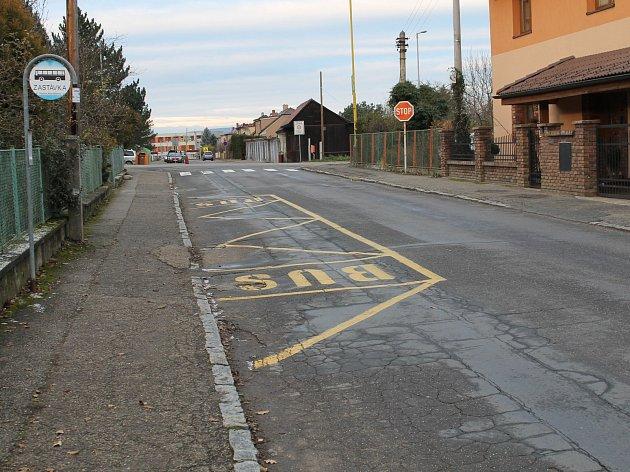 Navrátilova ulice před plánovanou opravou.