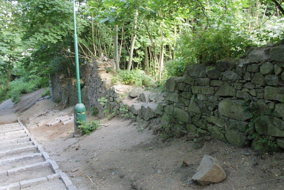 Týnecká farní zeď se dočká opravy ještě letos.