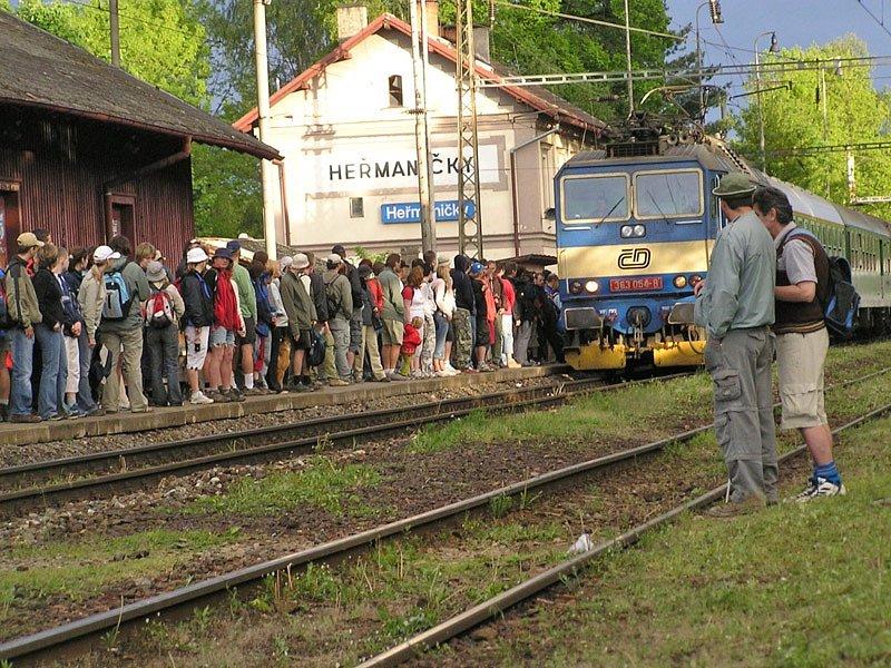 Současné nádraží v Heřmaničkách.