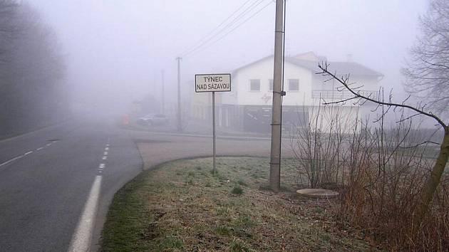 Místo připravované stezky pro chodce mezi Týncem a Bukovany