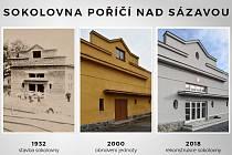 Sokolovna v Poříčí nad Sázavou se dočkala rekonstrukce.
