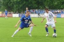 Fotbalový zápas II. ligy Vlašim - Vítkovice 0:2.