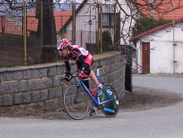 Příbramský profesionál Jiří Bosák (CK Windoor´s) začínal na přelomu století s cyklistikou v barvách týmu DA-BA.