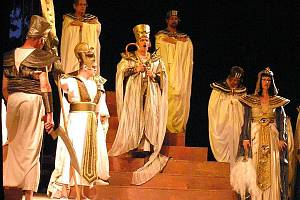Opera Aida v konopišťském amfiteátru.