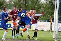 Fotbalový zápas II. ligy Vlašim - Sparta Praha B 0:0.