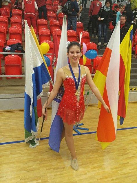 Zlato vnárodním šampionátu vtwirlingu vyhrála Kateřina Birošová.