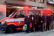 Zásahové vozidlo hasičů z Louňovic pod Blaníkem.