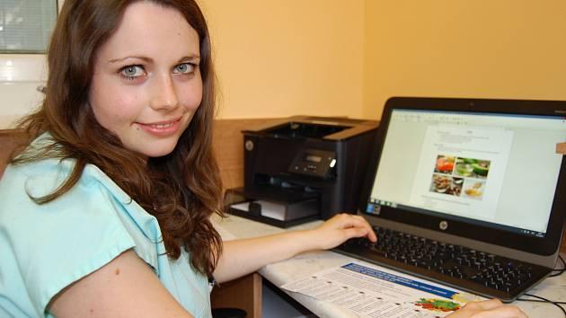 Martina Srbová působí se svojí praxí nutriční poradkyně v benešovské nemocnici.