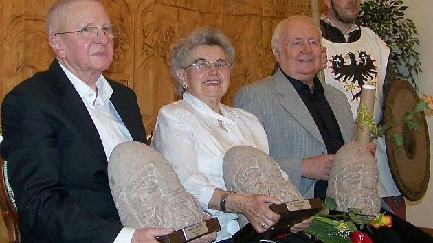 Erich Renner, Milada Justová a Stanislav Příhoda.