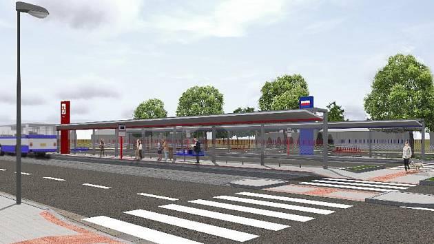 Díky dopravnímu terminálu budou moci lidé v Sázavě nejen pohodlně využít autobusové i vlakové dopravy, ale také podchodu do centra města.