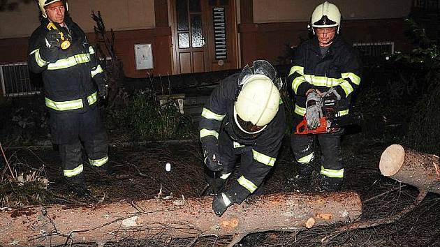 Nejčastějším  důvodem hasičských zásahů byly popadané stromy.