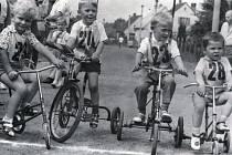 V rámci oslav půl tisíciletí Bystřice v roce 1971 závodily také děti.