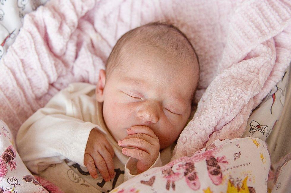Klaudie Brdičková se narodila v nymburské porodnici 17. dubna 2021 ve 14.27 hodin s váhou 3300 g a mírou 49 cm. Z holčičky se v Nymburce radují maminka Aneta, tatínek Martin a sestřička Sofie (3,5 roku).