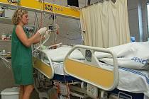 JIP benešovské nemocnice.