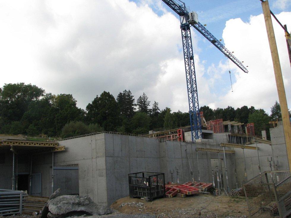 Budoucí provozní budova u dolní stanice lanovky
