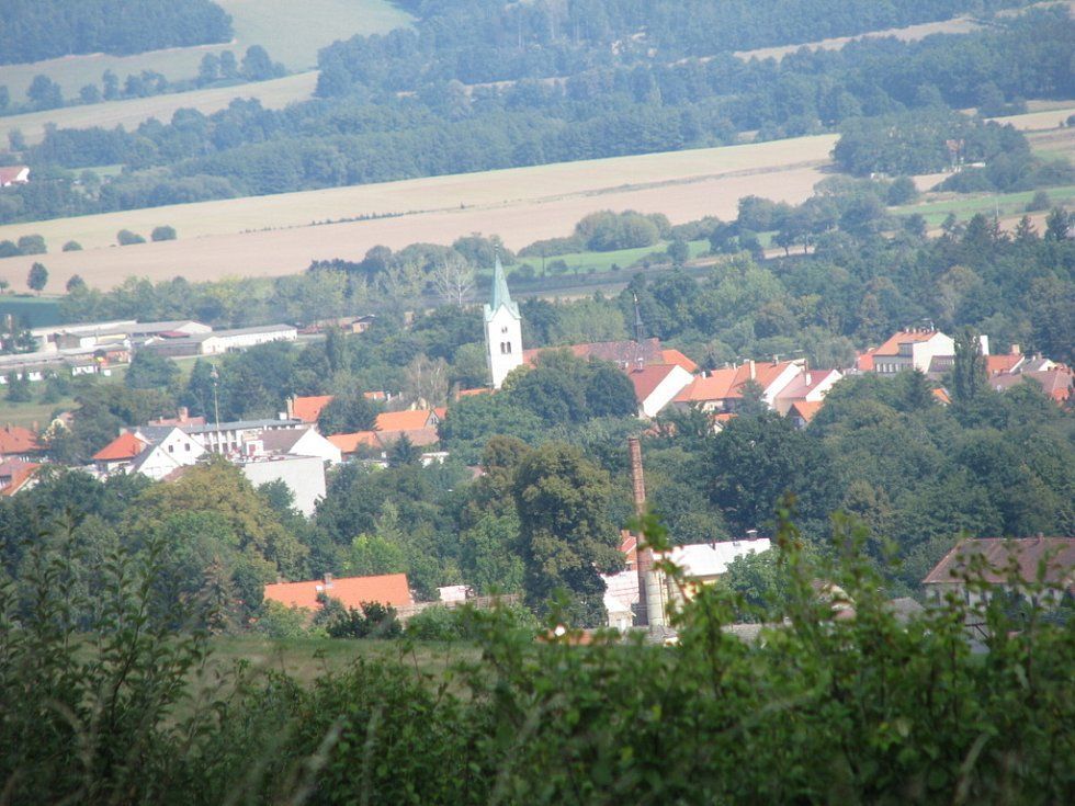 Pohled z Monínce na Sedlec
