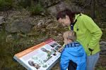 Ze slavnostního otevření geologické lokality Křížovský lom v Chráněné krajinné oblasti Blaník.